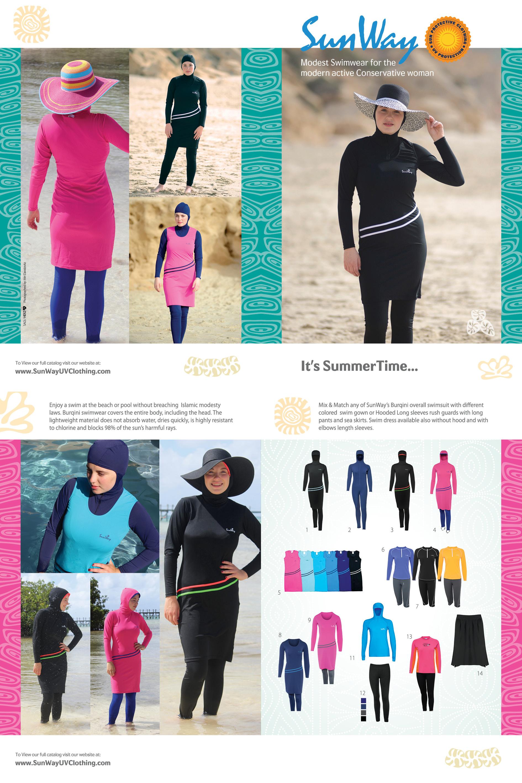SunWay s Modest UV Clothing Burkini Modest Swimwear