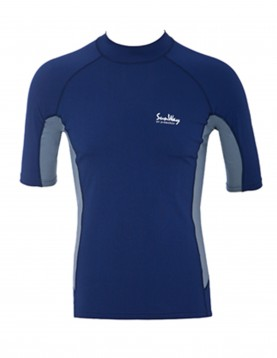 Men Navy and Gray UV Rash Guard Shirt