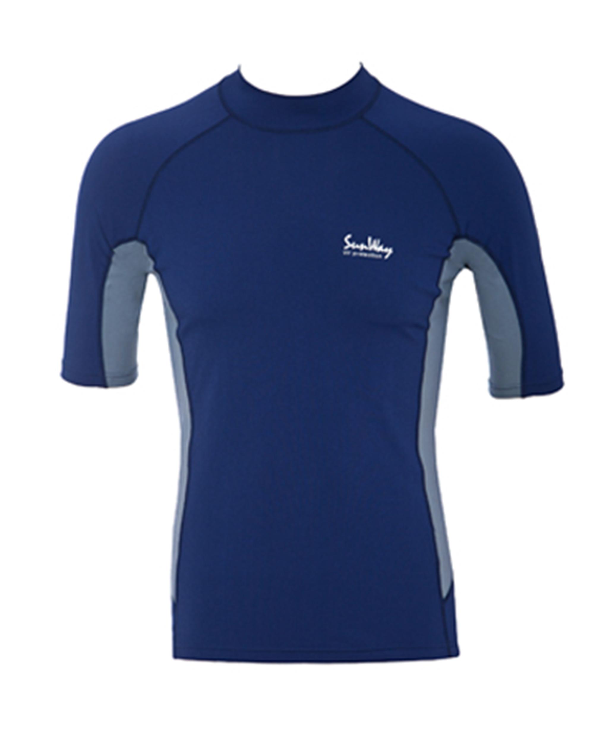 Men Navy and Gray UV Rash Guard Shirt