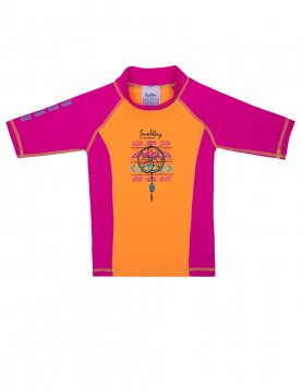 Rash guard shirt for girls