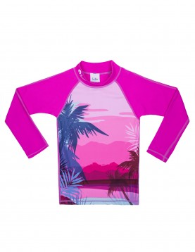 Long sleeves UV swim shirt for girls