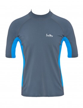 UPF 50+ Men's Short-Sleeve Swim Shirt - Sun Protective