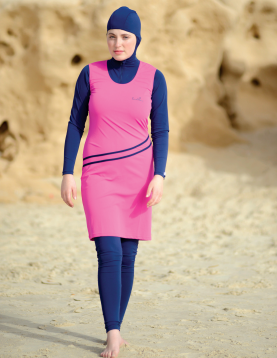 SunWay's burkini modest swimwear with hood M1