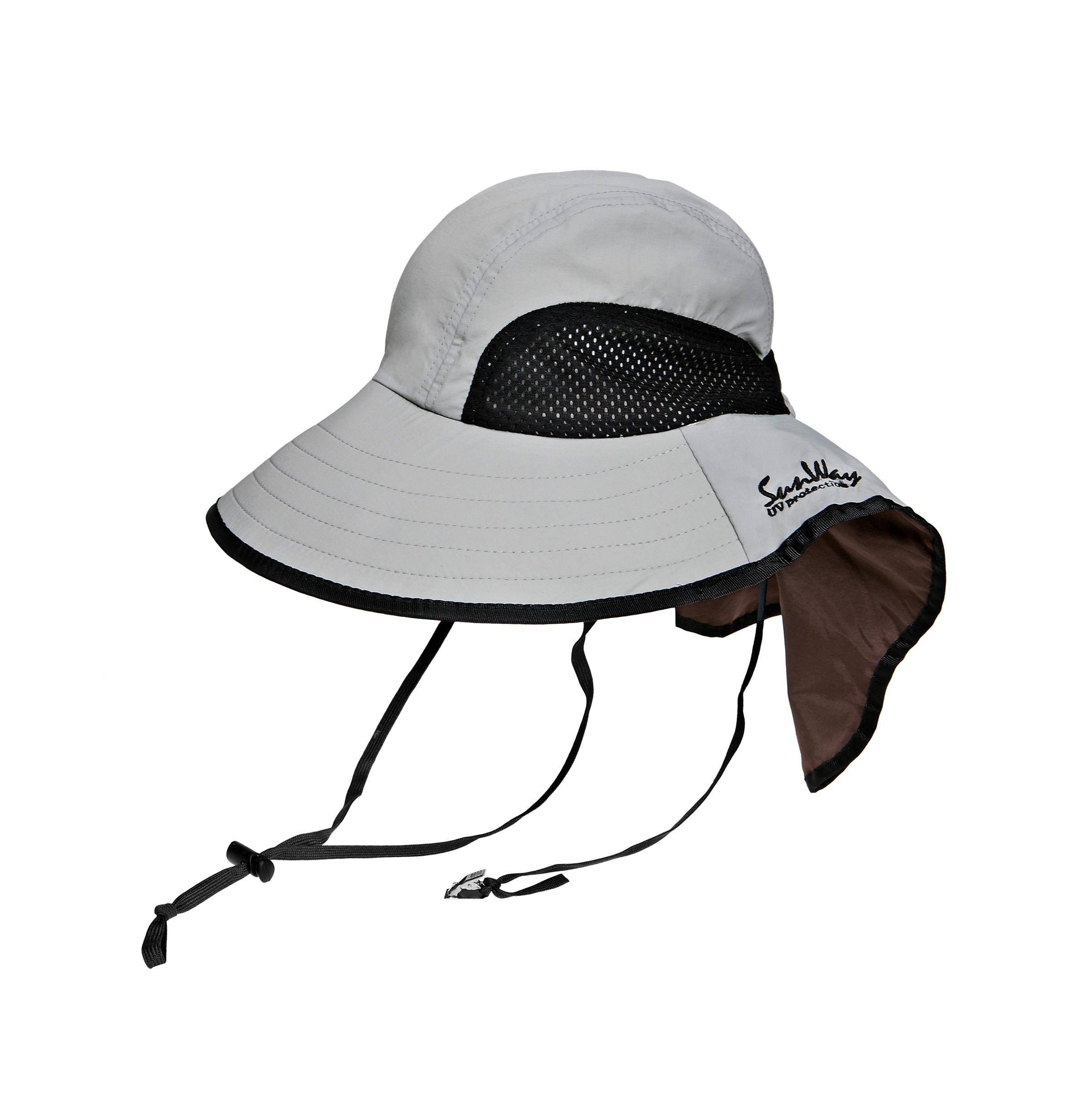 e2586937 SunWay's UV Protective Hats: Adult Gray Wide Brim Hat
