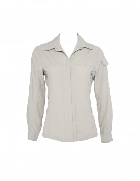 Women Khaki UV Outdoor Shirt