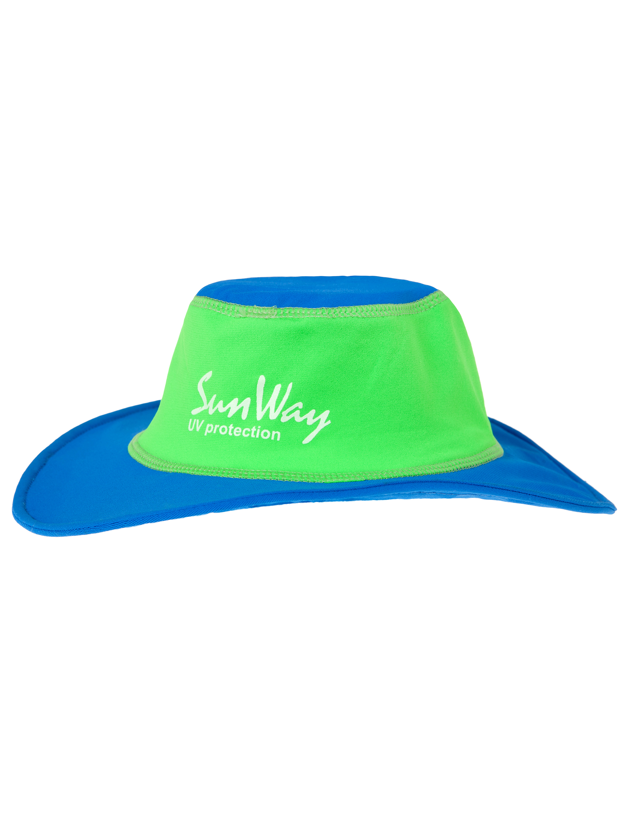 Babies and Toddlers Blue and Green Wide Brim Hat