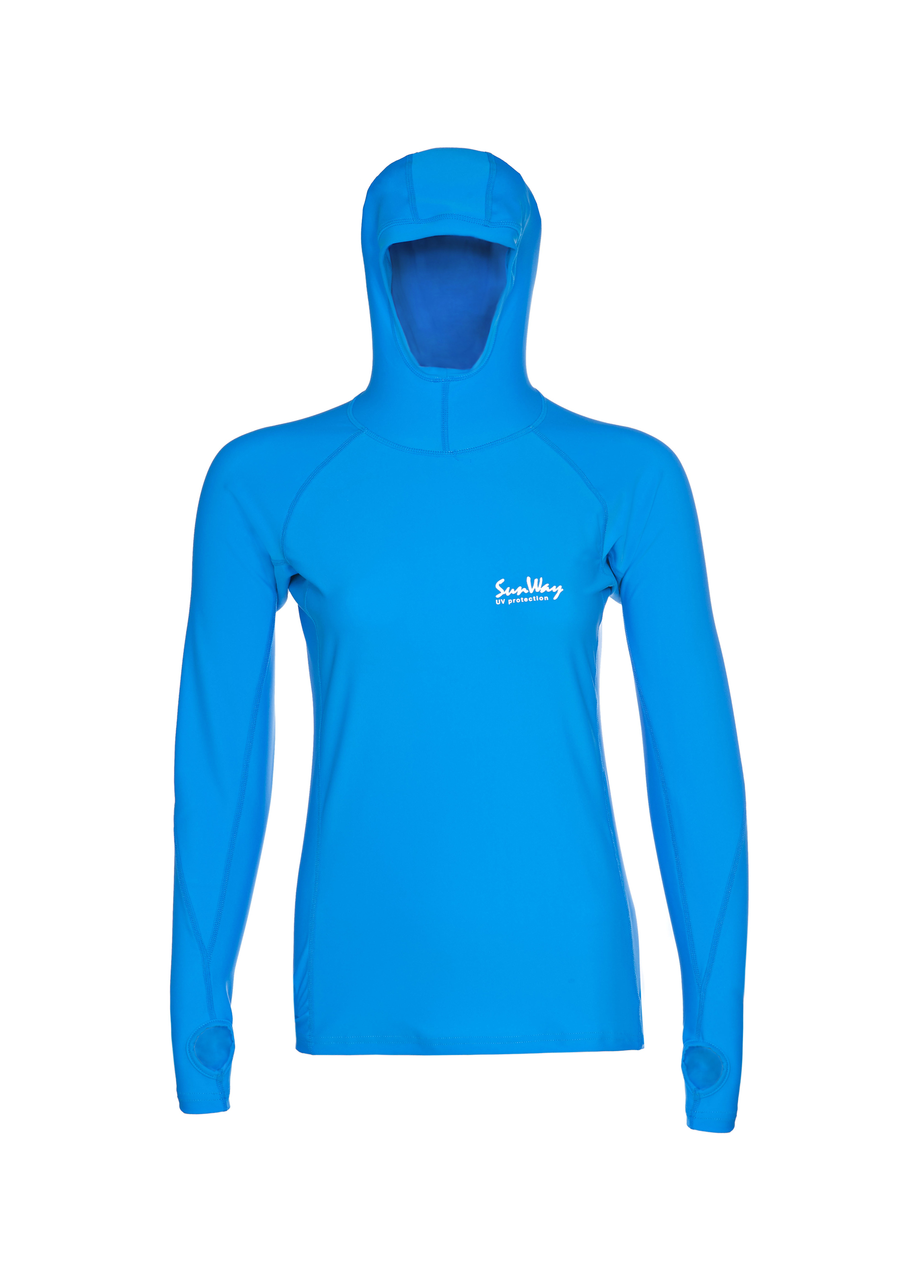 Long Sleeves Hooded Swimming Shirt Sunway