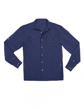Men Blue UV Outdoor Shirt