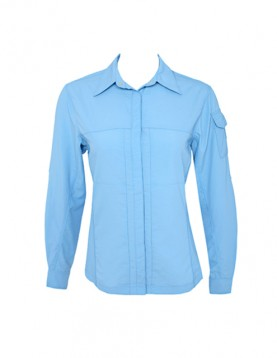 Women Light Blue UV Outdoor Shirt