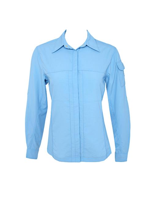 Women Light Blue UV Outdoor Shirt