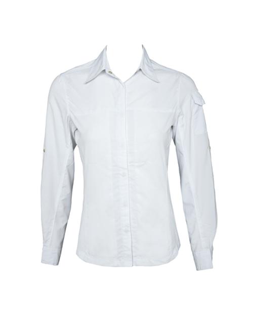 Women White UV Outdoor Shirt
