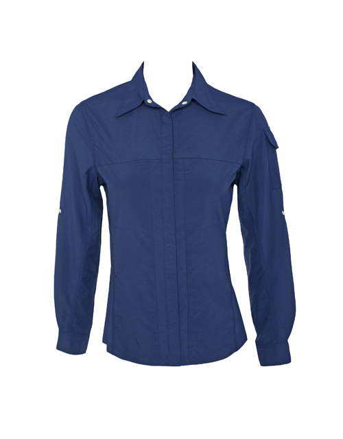 Women Blue UV Outdoor Shirt