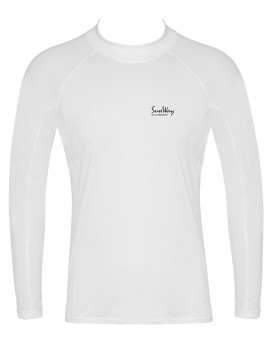 Men's Long-Sleeve White Rash Guard Shirt