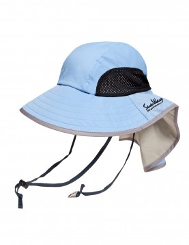 Light blue wide brim hat