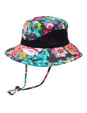 Wide Brim Flower Hat