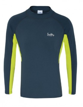UPF 50+ Men's Long-Sleeve Swim Shirt - Sun Protective