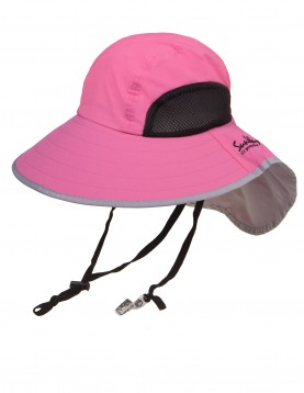 Pink wide brim hat