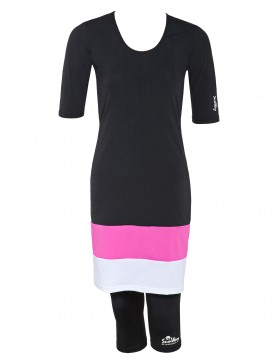modest swimwear dress with UV leggings