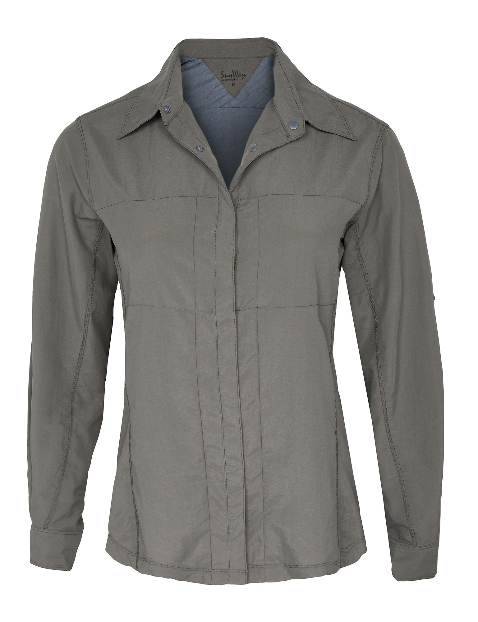 Women Gray Olive UV Outdoor Shirt