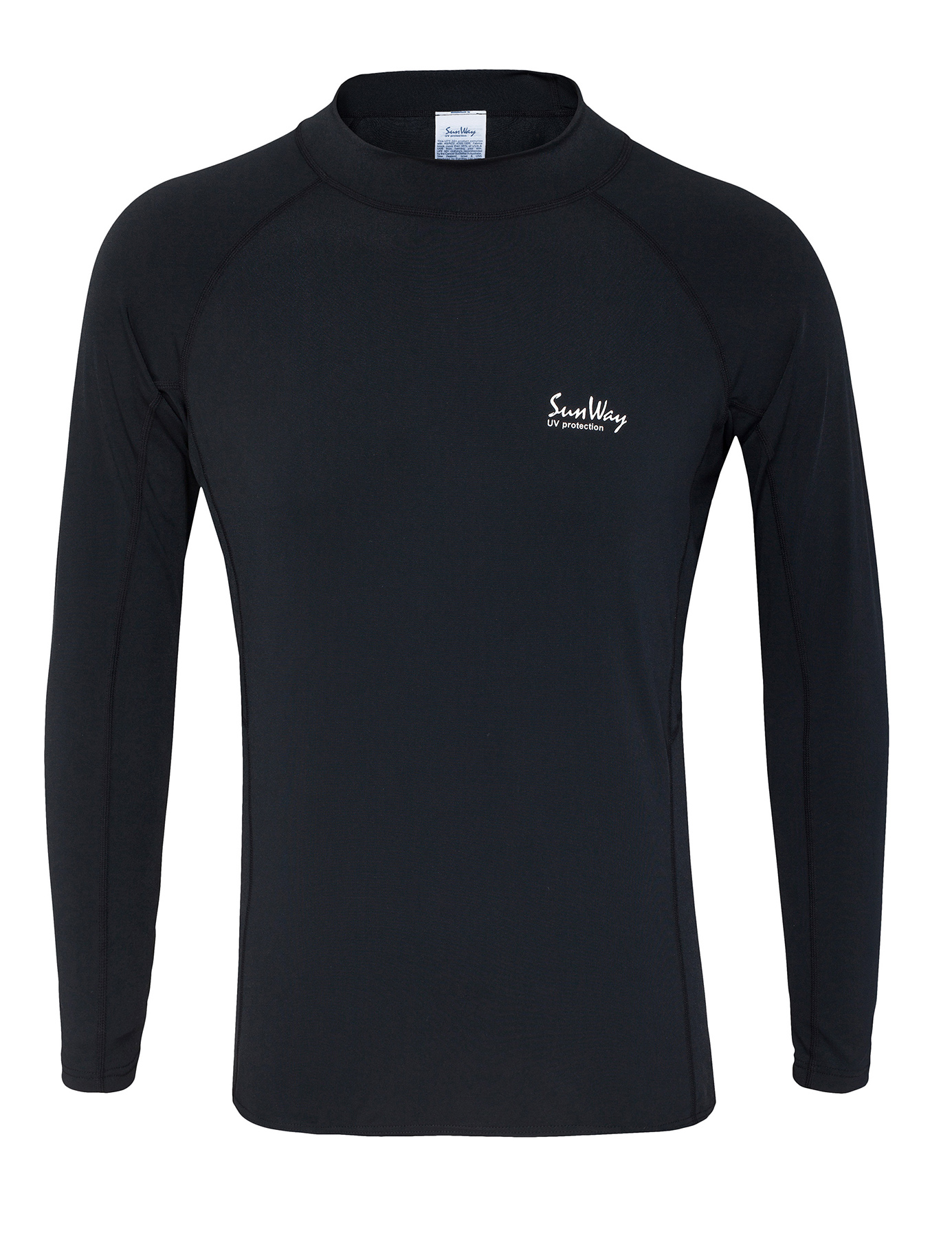 UPF 50+ Men's Long-Sleeve Rash Guard Shirt