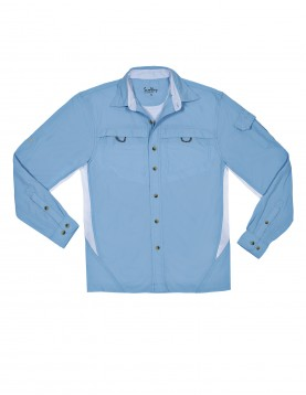 Men Light Blue UV Outdoor Shirt