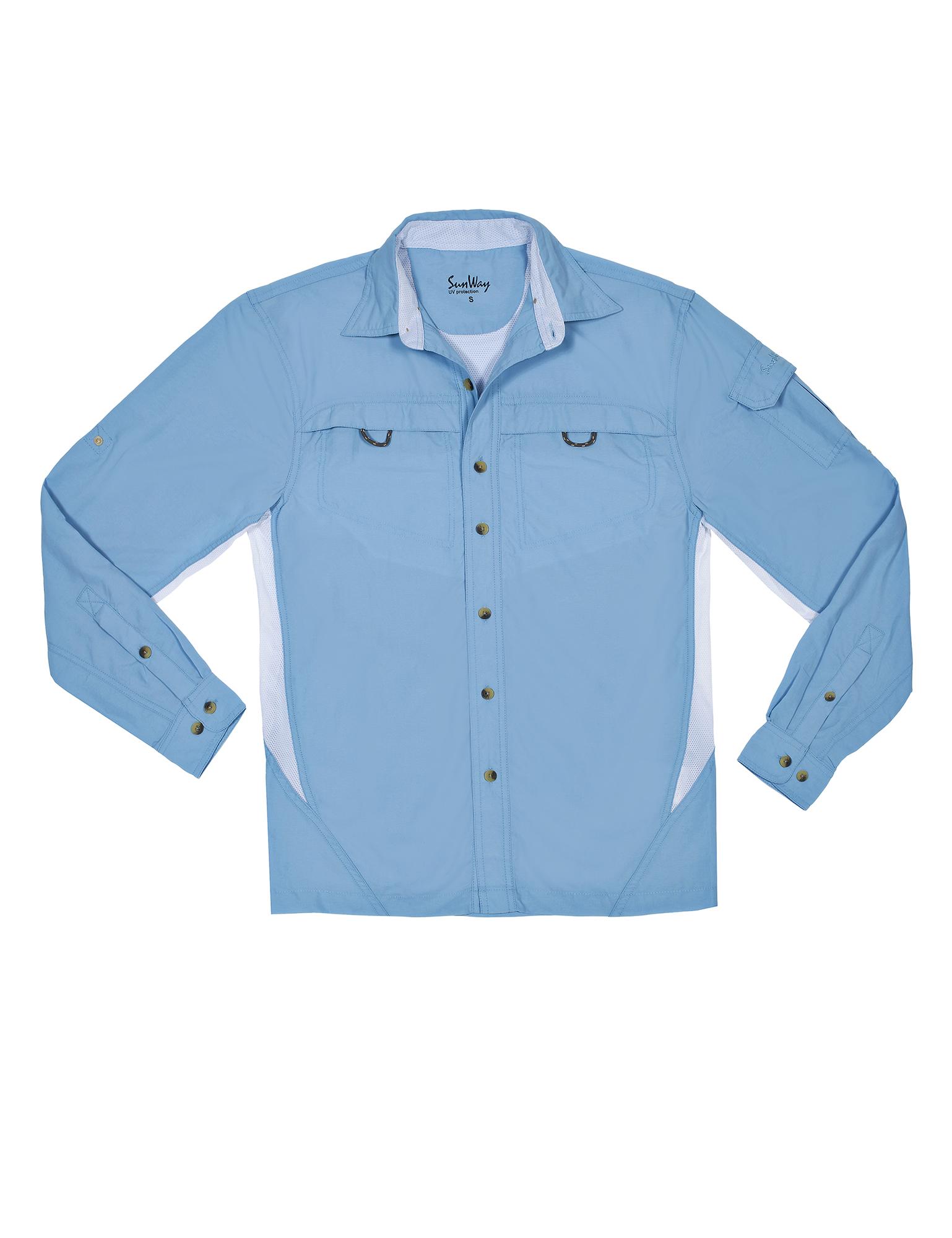 Men Light Blue UV Outdoor Shirt