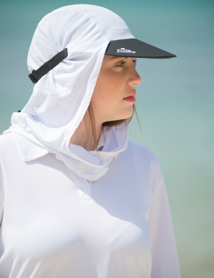Sunway 39 s uv protective hats adult white legionnaire sun hat for Sunscreen shirts for adults