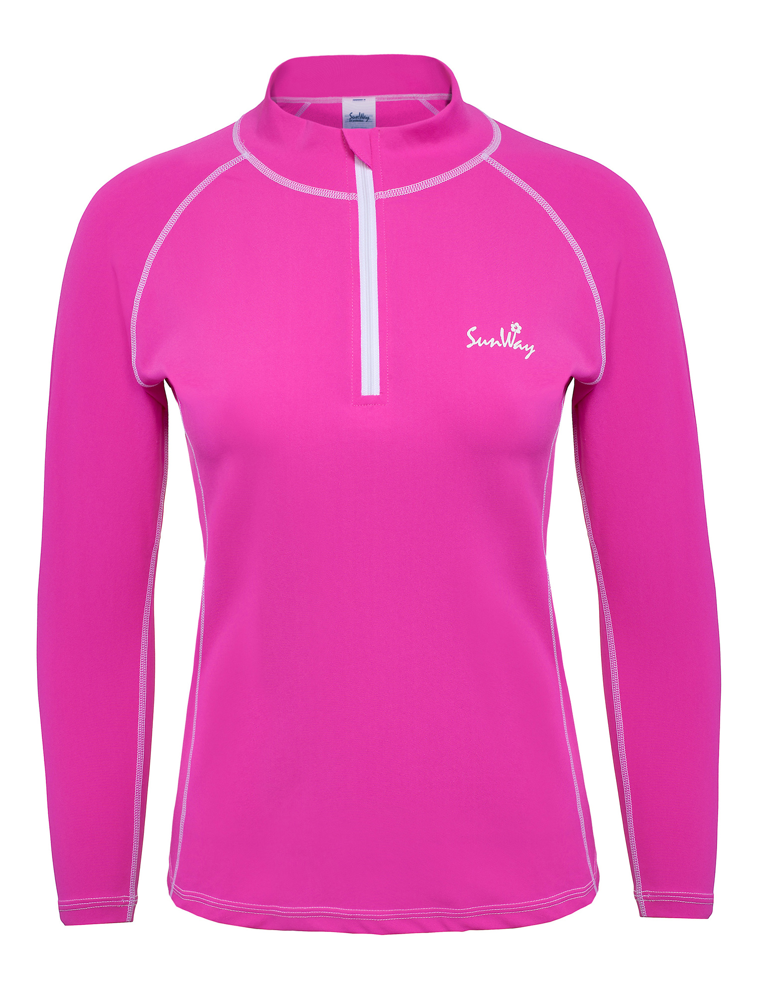 Women 39 s long sleeve pink uv swim shirt for Uv shirts long sleeve