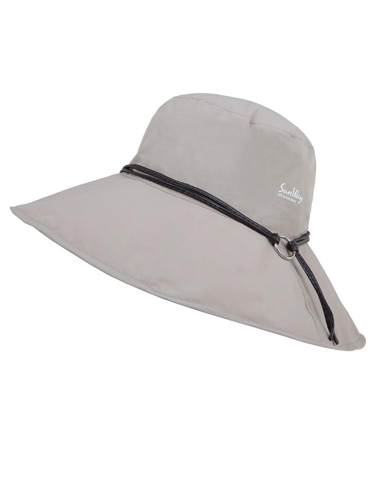 Rolled up wide brim hat
