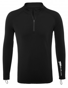Black Thermal Lycra Fleece Shirt