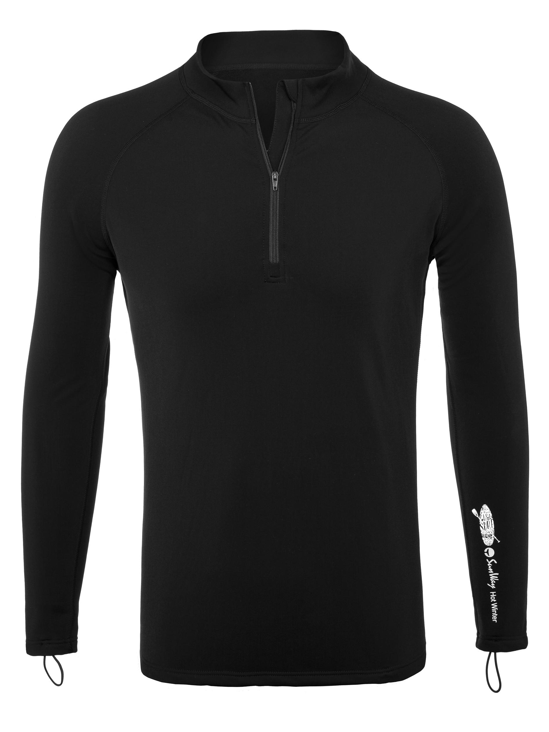 d85a9f7045 Long-Sleeve Rash Guard Shirt with Zipper