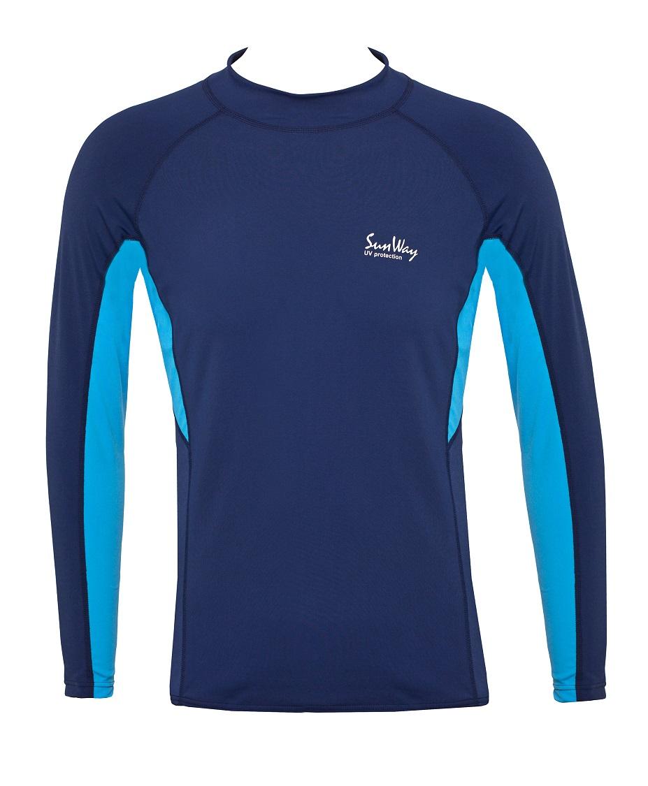 7269a93324 UPF50+ Men's Long-Sleeve Navy Rash Guard Shirt