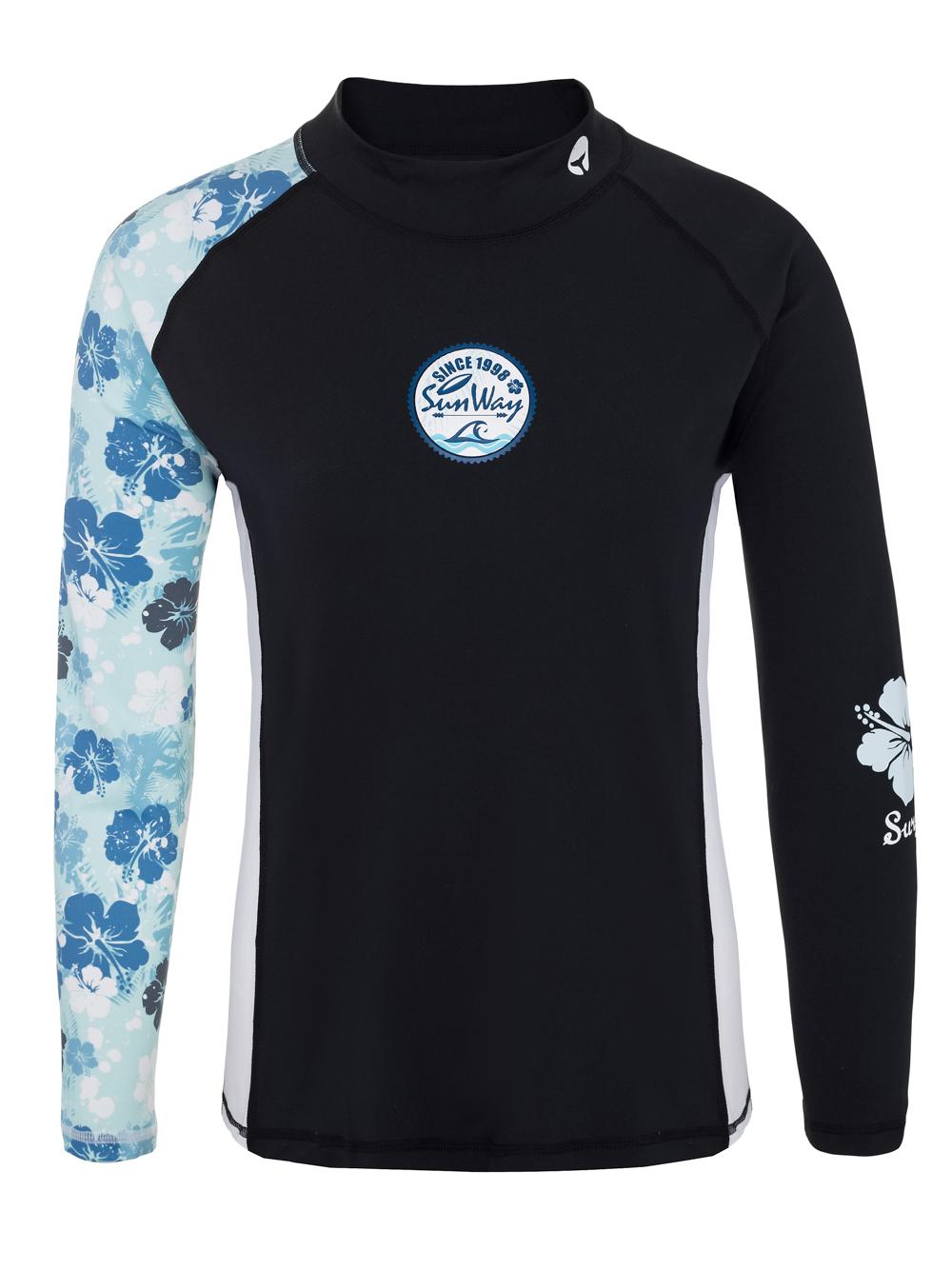 Long sleeves swim shirt rash guard shirt for women