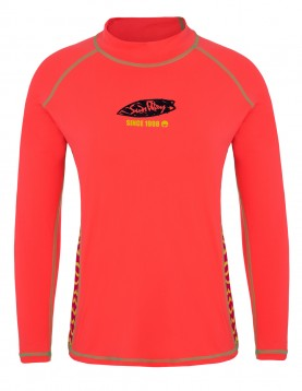 Long sleeves swim shirt rash guard shirt for women