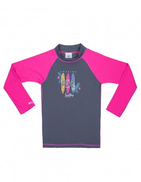 Long sleeves UV swim shirt for girls 906