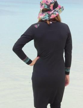Modest swimwear with hood