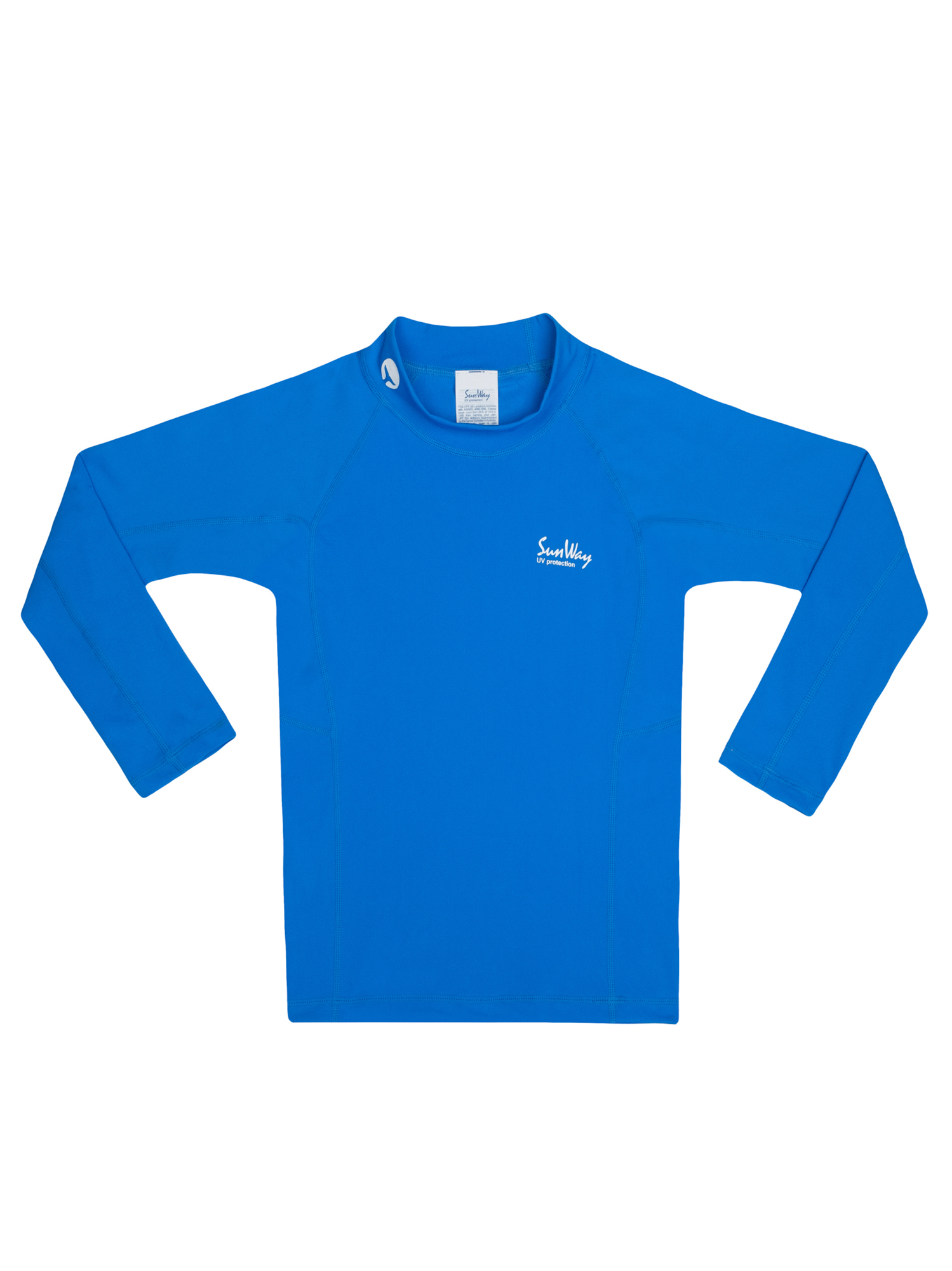 Rash Guard UV Long sleeve Swim Shirt Blue