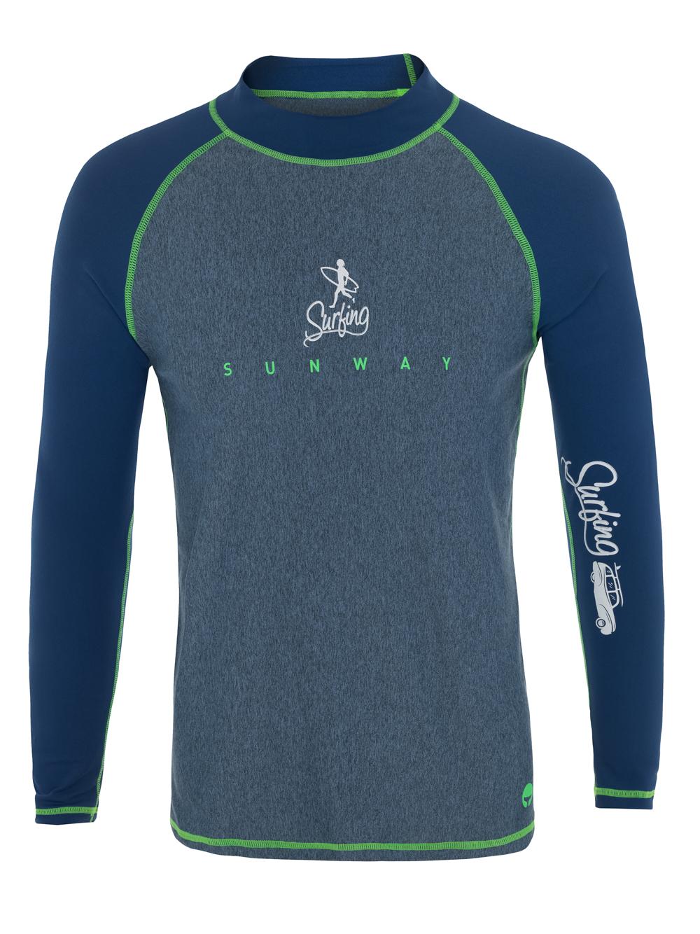 Men's Long-Sleeves Rash Guard Shirt UPF50+ 60163