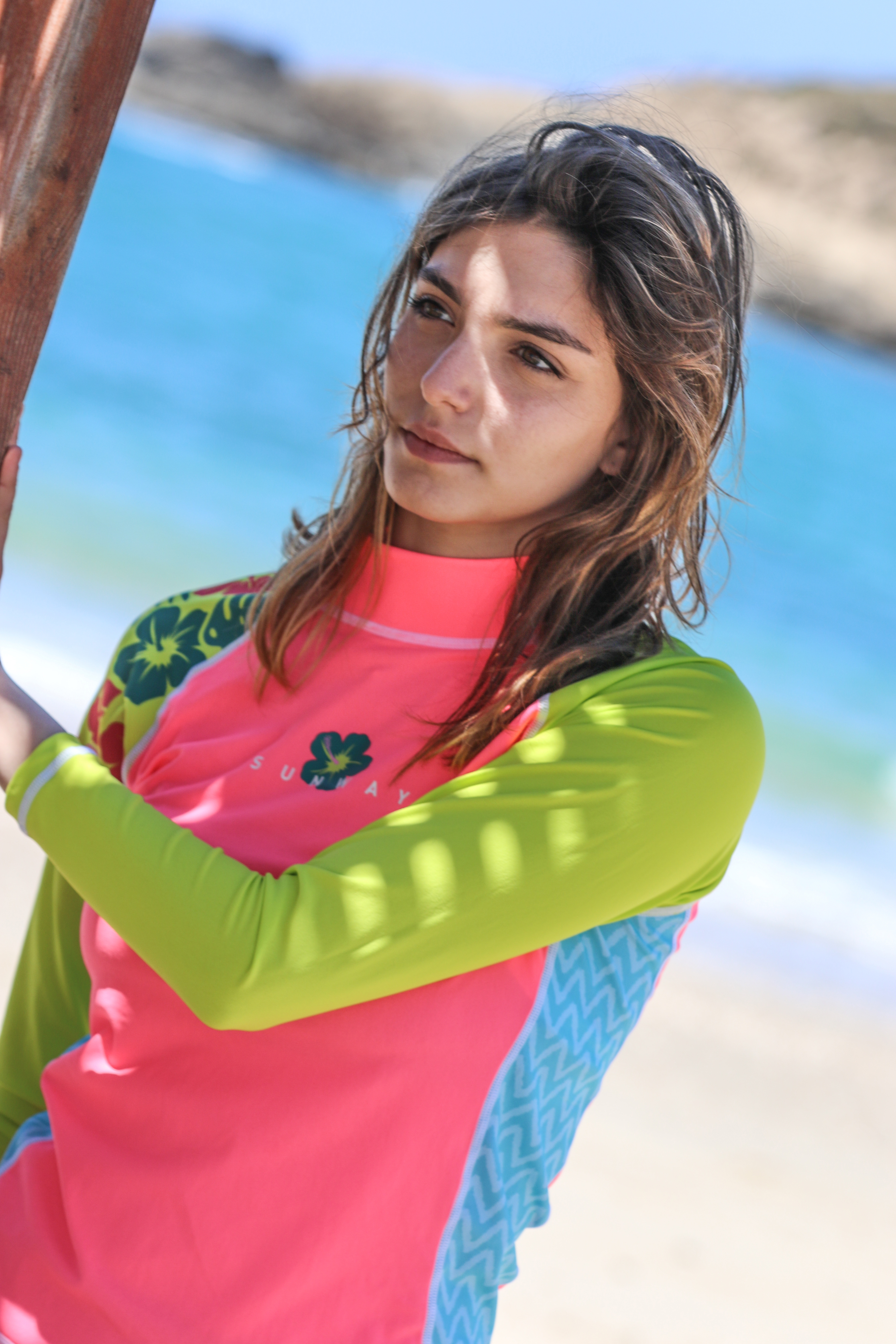 eb2e5f0208 Home>Women>Shop by Products>UV Protective Swimwear>Long Sleeves Rashguards  colorful for Mother & Daughter