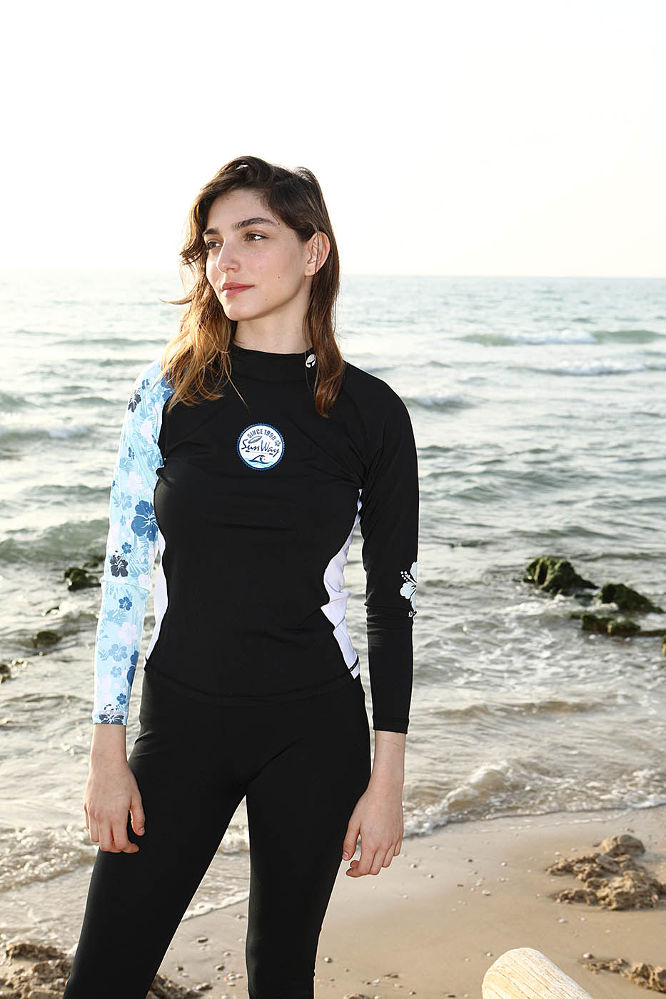 5d948d7c8ab7b Home Women Shop by Products UV Protective Swimwear Women s Long Sleeves  Rashguard UV Swim Shirt 001L