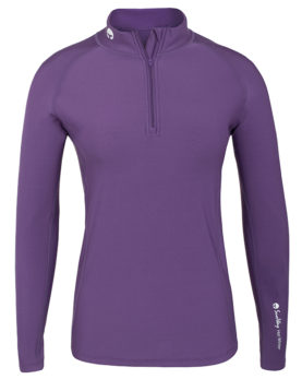 Thermal Lycra Fleece Shirt with zipper - Purple