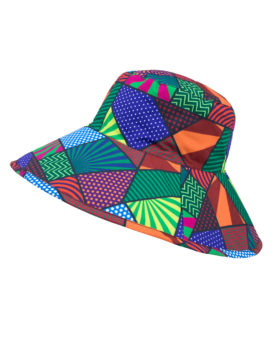 SunWay's Roll up wide brim Hat - Geometric