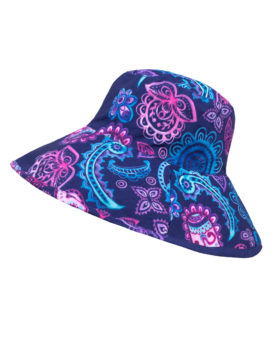 SunWay's Roll up wide brim Hat - Paisley