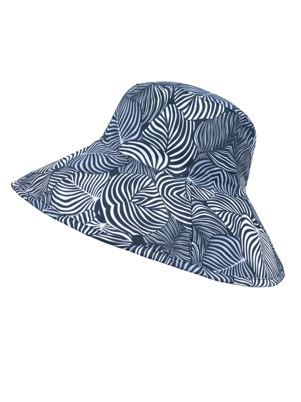 SunWay's Roll up wide brim Hat - Black and White
