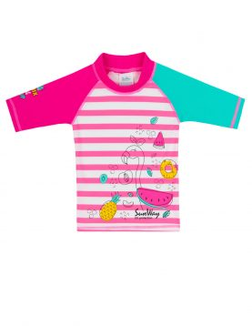 Flamingo swim shirt. Swim shirt rash guard 113