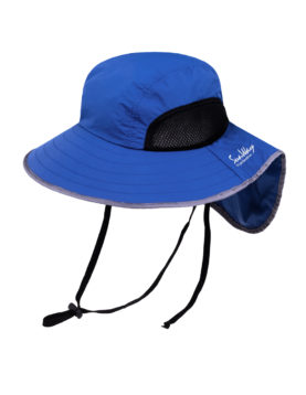Steel Blue Wide Brim Hat