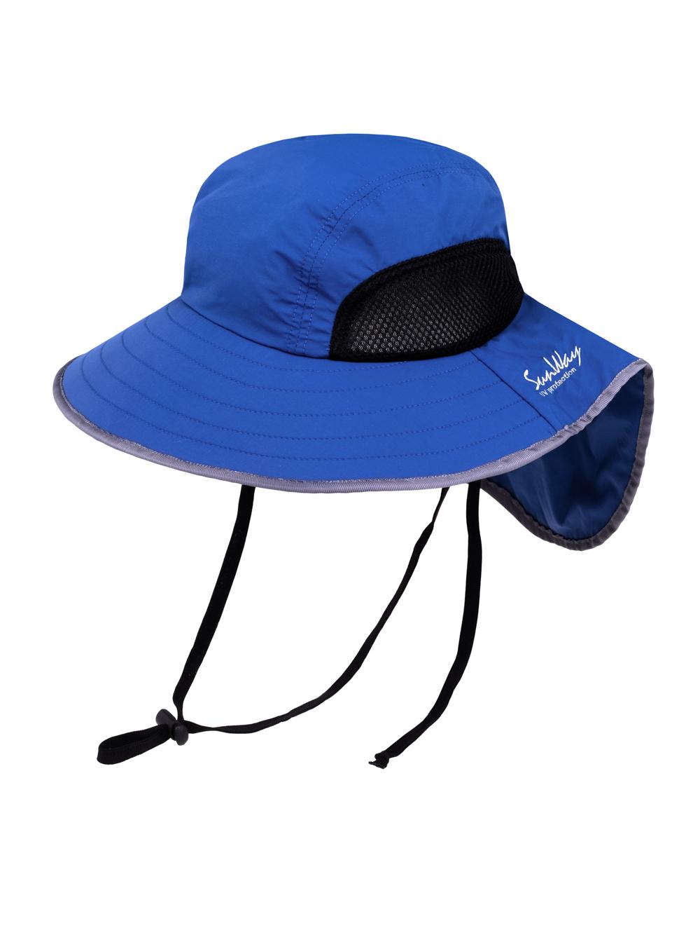 Steel Blue Wide Brim Hat