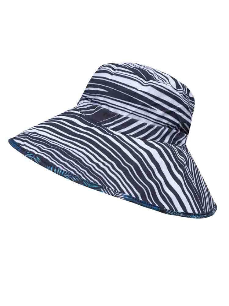 Wide brim rolled up hat 031
