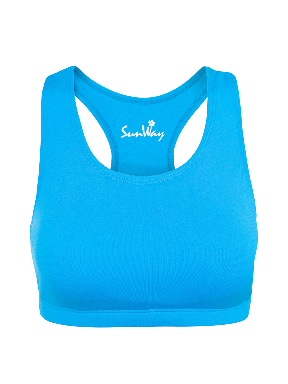 Chlorine Resistant Top for extra chest support – Light Blue