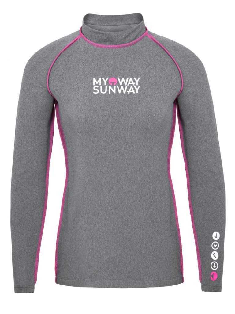 Thermal Lycra Fleece Shirt - Gray Pink / Black